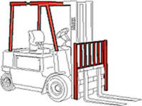 forklift guard cage backrest protection safety equipment